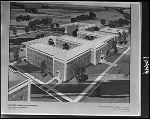 Primary view of object titled '[Architectural rendering of Clark Hall, #1]'.