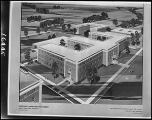Primary view of object titled '[Architectural rendering of Clark Hall #2]'.