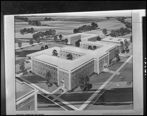 Primary view of object titled '[Architectural rendering of Clark Hall #4]'.