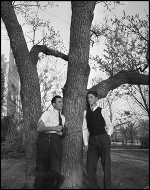 Primary view of object titled '[Male Students T.J. Collette and Harvey Glazner]'.