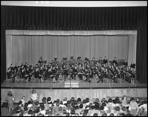 Primary view of object titled '[Military Band at Auditorium]'.