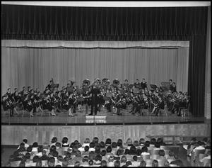Primary view of object titled '[Military Band Concert in Auditorium]'.
