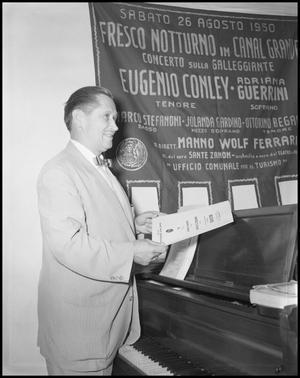 Primary view of object titled '[Music Department Professor Eugene Conley Performing, August 26, 1960]'.