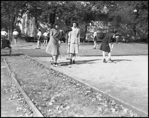 Primary view of object titled '[Women Playing Croquet]'.