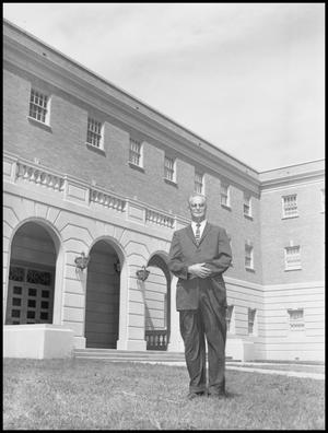 Primary view of object titled 'Curry, O. J. - Business Administration Dept. - Outside Campus Building'.