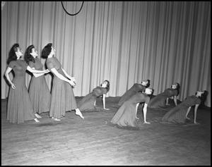 Primary view of object titled '[Women dancing on a stage]'.