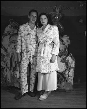 Primary view of object titled '[Man and woman in pajamas'.