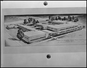 Primary view of object titled '[Architectural Rendering of the Education Building #1]'.