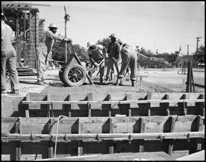 Primary view of object titled '[Construction of Matthews Hall, 1959]'.