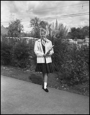 Primary view of object titled '[Woman on Campus]'.