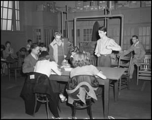 Primary view of object titled '[Students Around a Table]'.
