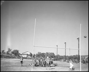 Primary view of object titled '[A Field Goal Play during a Football Game, 1939]'.