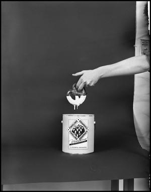 Primary view of object titled '[Female Dips a Pretzel into a Fineline Graphics Gloss Container #8, December 20, 1981]'.