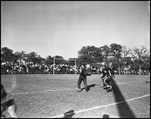 Primary view of object titled '[Football Players During Game]'.