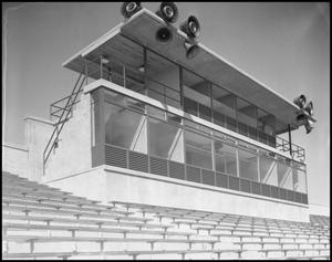 Primary view of object titled '[Fouts Field Press Box]'.