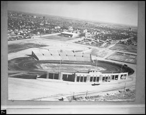 Primary view of object titled '[Aerial View of Fouts Field]'.