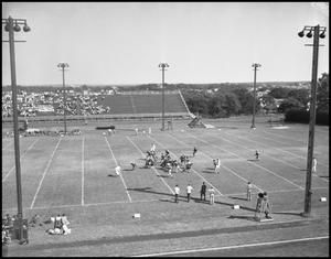 Primary view of object titled '[Football Game Viewed from Above]'.