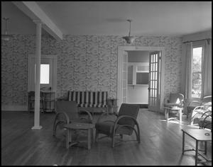 Primary view of object titled '[Interior of Fraternity House]'.