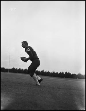 Primary view of object titled '[North Texas State University Jersey No. 80 Football Player, September 1962]'.