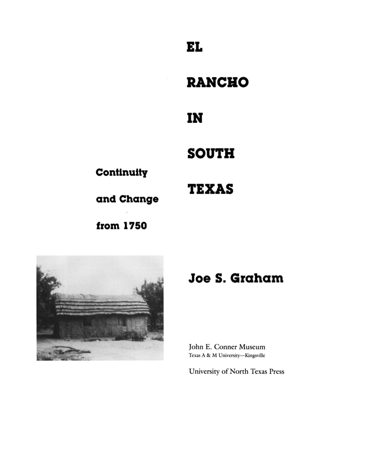 El Rancho in South Texas: Continuity and Change From 1750                                                                                                      None