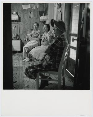 Primary view of object titled '[Women gather for a quilting bee]'.