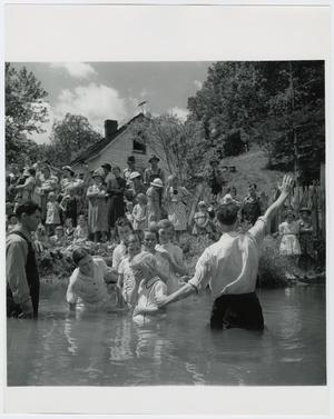 Primary view of object titled 'Baptising in Olde Towne Creek'.