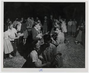 Primary view of object titled '[Musicians at the Stir-off]'.