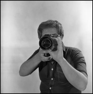 Primary view of object titled '[Filmmaker and Producer Lewis Abernathy]'.