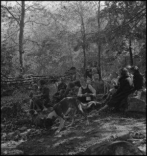 Primary view of object titled '[Students eating lunch(2)]'.