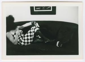 Primary view of object titled '[Patti Le Plae Safe Lounging on a Sofa]'.