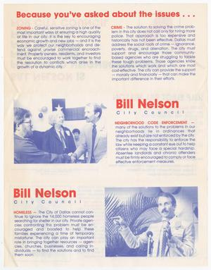 White page. A blue picture on the bottom right corner of a man, one in the middle of the left half of the page. Paragraphs surround the pictures, with the titles in red letters.