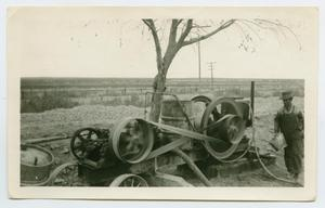 Primary view of object titled '[Workmen With Machinery]'.