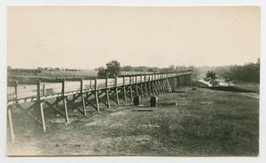 Primary view of object titled '[Long Wooden Flume]'.