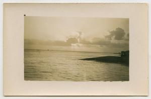 Primary view of object titled '[Sunrise or Sunset Over Water]'.