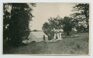Primary view of object titled '[Photograph of People at Campsite]'.