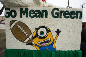 "Primary view of object titled '[""Go Mean Green"" sign]'."