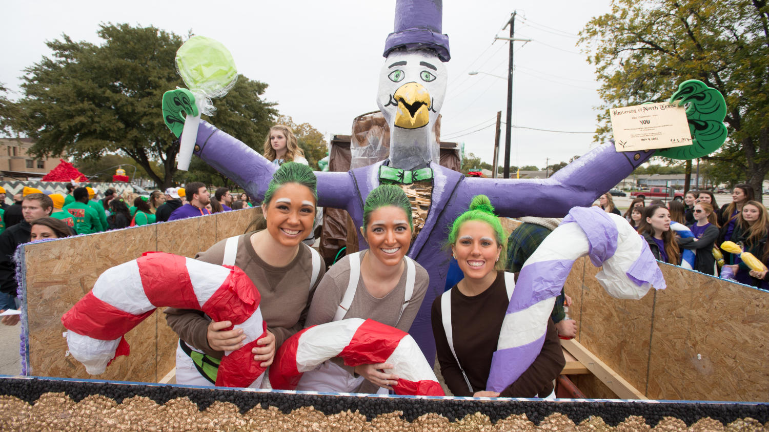 [Float from UNT Homecoming parade]                                                                                                      [Sequence #]: 1 of 1