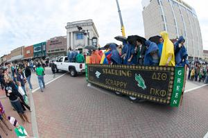 Primary view of object titled '[UNT homecoming parade float 2]'.