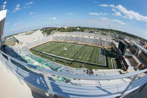 Primary view of object titled '[Apogee Stadium during UNT Homecoming]'.