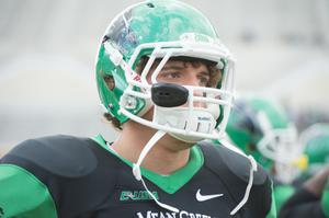 Primary view of object titled '[UNT Mean Green football player 2]'.
