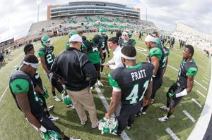 Primary view of object titled '[UNT Mean Green football players 3]'.