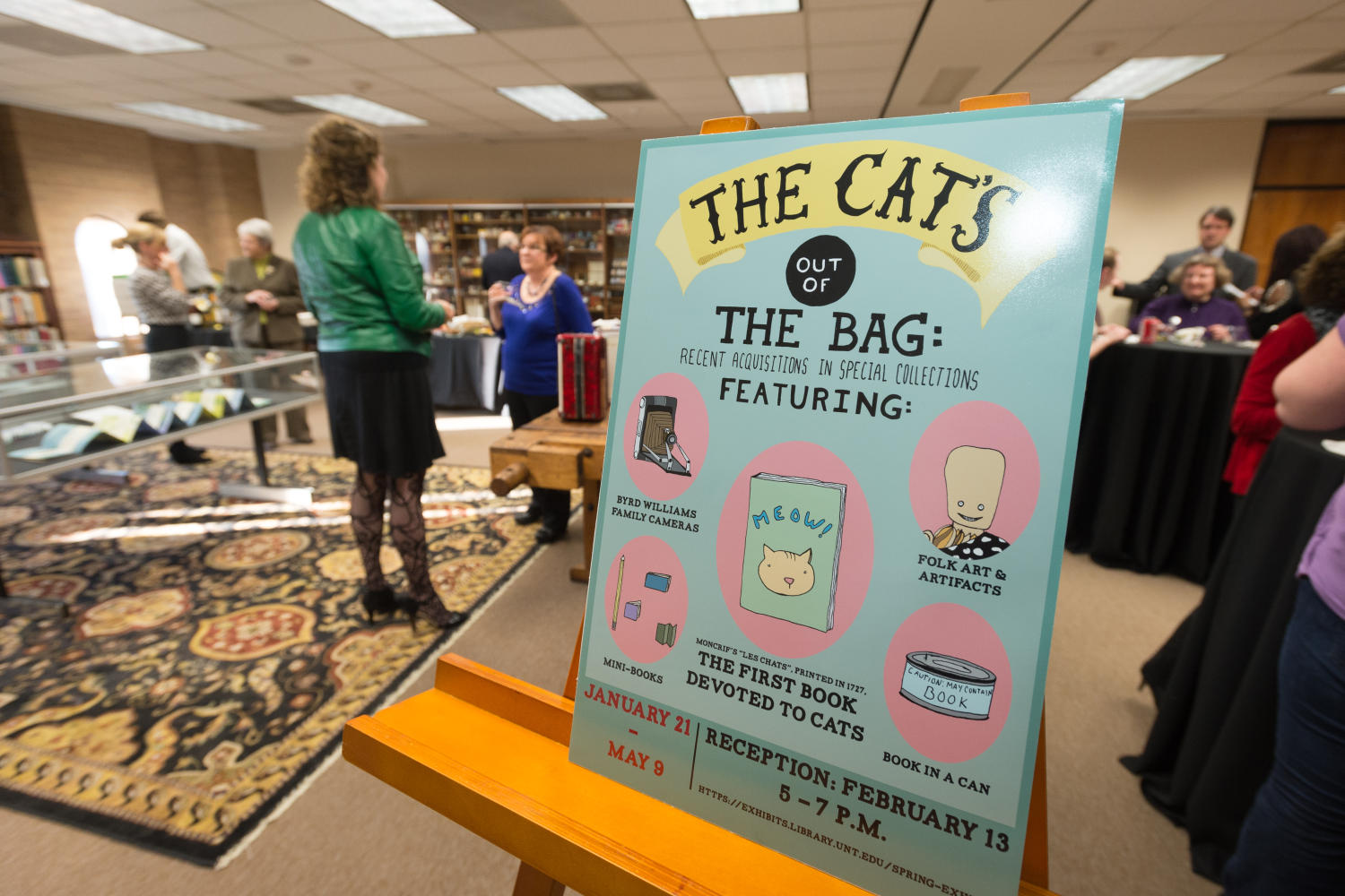 [The Cat's Out of the Bag event sign]                                                                                                      [Sequence #]: 1 of 1