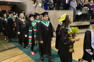 Primary view of object titled '[UNT Commencement procession]'.