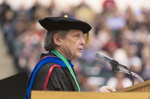 Primary view of object titled '[UNT Fall Commencement Ceremony speaker]'.