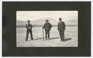 Primary view of object titled 'Hunters with Kill Somewhere in West Texas, 1915'.