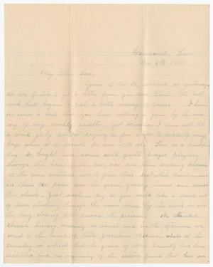 Primary view of object titled '[Letter from Mrs. B. M. Willliams to B. M. Williams, Jr. - November 5, 1907]'.