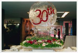 Primary view of object titled '[Ice Sculpture Decorated for 30th Anniversary Gala]'.