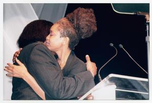 Primary view of object titled '[Photograph of Erykah Badu and Curtis King]'.