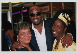 Primary view of object titled '[Malik Yoba, Phyllis Yvonne Stickney, and Guest]'.