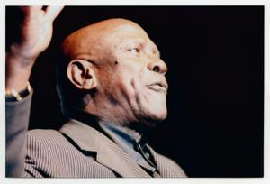 Primary view of object titled '[Louis Gossett Jr. on Stage]'.